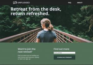Retreat website image